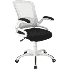 ErgoStar Smart Black/White Chair with Flip Up Arms