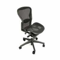 Herman Miller Aeron Standard Classic Chair Graphite Armless
