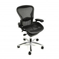 Herman Miller Aeron Chair Fully Adjustable with Polished Aluminum Base