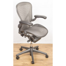 Herman Miller Aeron Size B Fully Adjustable with Posture Fit, Limited Edition, Grey Mesh