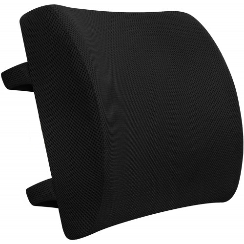 Lumbar Support Cushion | Memory Foam Back Cushion for Back Pain Relief &  Improve Posture | Ideal Back Support for Office Chair, Computer, Carseat, Gaming Chair, Recliner