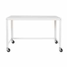 Mobile Steel Workstation - White