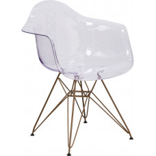 Ghost Chair with Gold Frame
