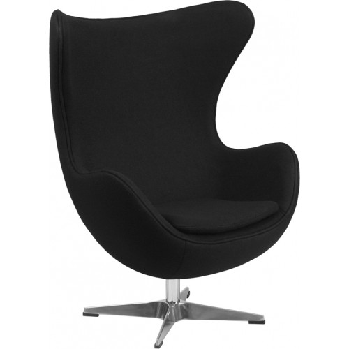 Egg Chair - Black Fabric