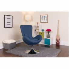 Denim Fabric Egg Chair - Reception Room