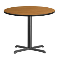 "36"" Round Natural Laminate Break Room Table"