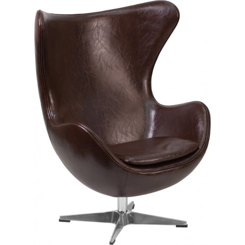 Egg Chair - Brown Leather