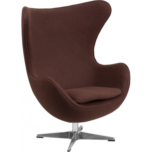 Egg Chair - Brown Fabric