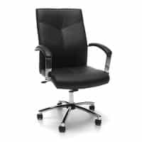 Black/Chrome Mid Back Conference Chair