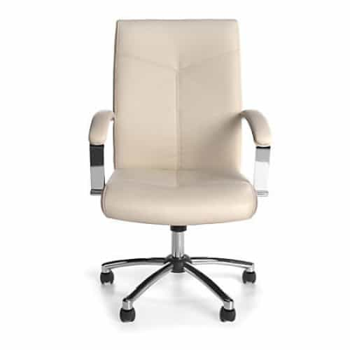 Cream/Chrome Mid Back Conference Chair