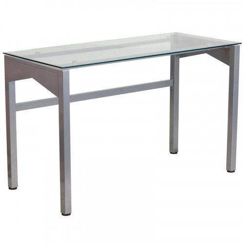Computer Desk with Glass Top