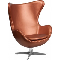 Egg Chair - Copper Leather