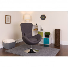 Dark Gray Fabric Egg Chair - Reception Room