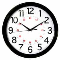 "Round Wall Clock - Black (12 5/8th"")"