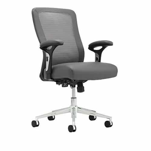 Modern Mid-Back Mesh and Leather Office Chair