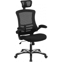 Black Mesh High Back Office Chair with Headrest