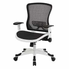 ErgoStar Mesh-Back Office Chair with Adjustable Arms and Lumbar Support
