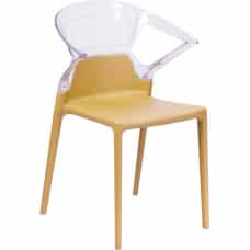 Ghost Side Chair with Gold Seat