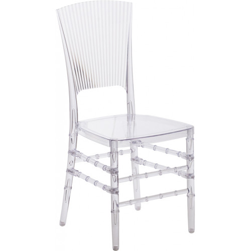 Elegant Ghost Side Chair -- Shell Back