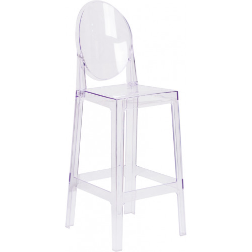 Oval Ghost Barstool 30""