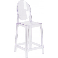 Oval Ghost Barstool 25""
