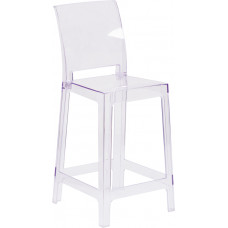 Square Ghost Barstool 25""