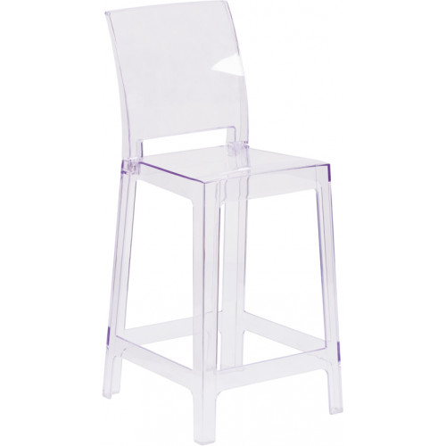 Square Ghost Barstool 30""