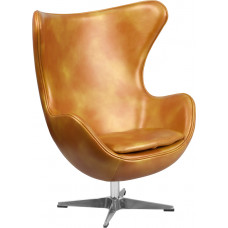 Egg Chair - Gold Leather