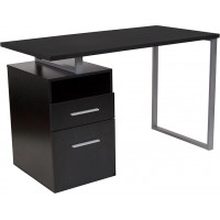 Modern Wood Grain Desk - Dark Ash
