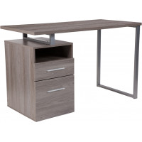 Modern Wood Grain Desk - Light Ash