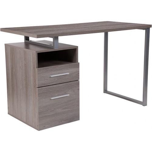 Modern Wood Grain Desk - Light Ash