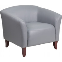 Hera Gray Leather Chair