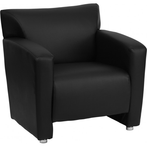 Zeus Black Leather Chair