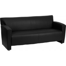 Zeus Black Leather Sofa