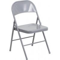 Grey Metal Folding Chair