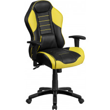 Black and Yellow Race Chair