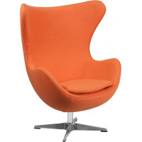 Egg Chair - Orange Fabric