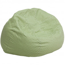Oversized Bean Bag Chair - Light Green with White Polka Dots