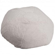 Oversized Bean Bag Chair - White Furry