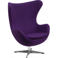 Egg Chair - Purple Fabric
