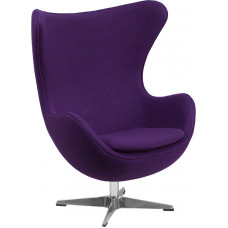 Egg Chair - Purple Fabric