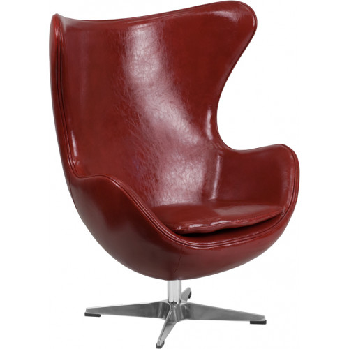 Egg Chair - Red Leather