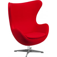Egg Chair - Red Fabric