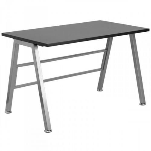 """High Rise Black Laminate Top Desk - (47.25"""" width)"""