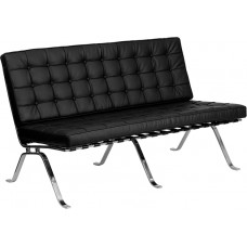 Ares Leather Love Seat